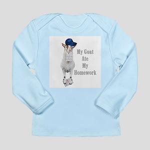 GOAT Ate Homework Long Sleeve Infant T-Shirt