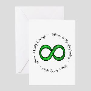 Infinite Change Greeting Card