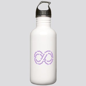 Purple Text Infinity Stainless Water Bottle 1.0L