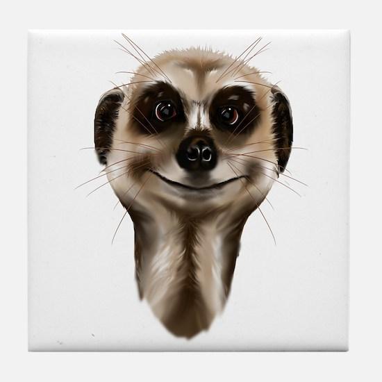 Meerkat Faces Tile Coaster