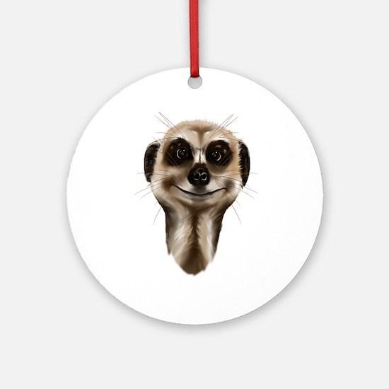 Meerkat Faces Ornament (Round)