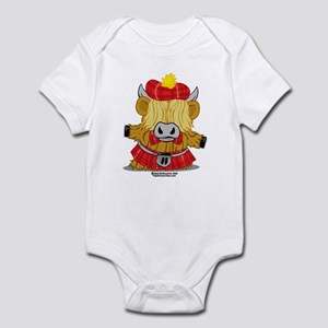 Highland Cow Red Kilt Infant Bodysuit