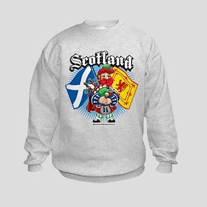Scotland Flag & Piper Kids Sweatshirt