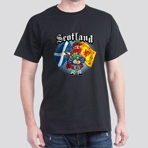Scotland Flag & Piper Dark T-Shirt