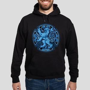 Scotland Iron Cross Blue Hoodie (dark)