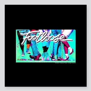 "Footloose Dancing Feet 2 Square Car Magnet 3"" x 3"""