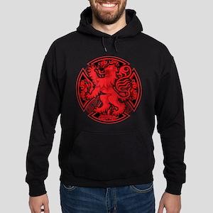 Scottish Iron Cross Red Hoodie (dark)