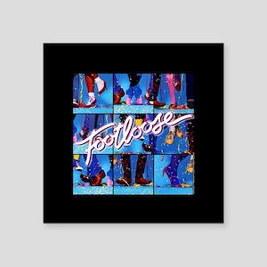 "Footloose Dancing X3 Square Sticker 3"" x 3"""