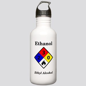 Ethanol MSDS Label Stainless Water Bottle 1.0L