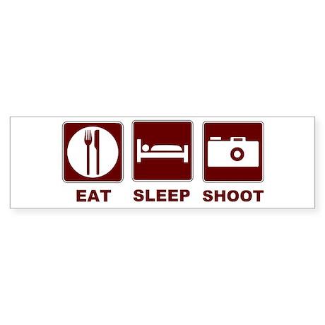 Eat Sleep Shoot Sticker (Bumper)
