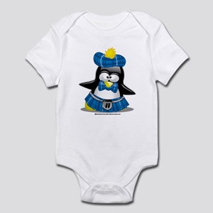 Penguin Blue Kilt Infant Bodysuit