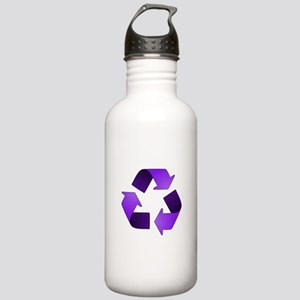 Purple Recycling Symbol Stainless Water Bottle 1.0