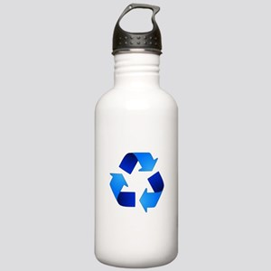 Blue Recycling Symbol Stainless Water Bottle 1.0L