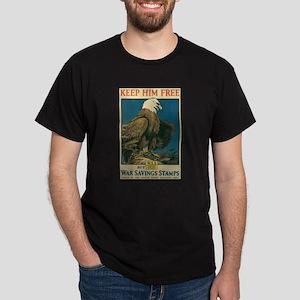 Eagle War Poster Black T-Shirt
