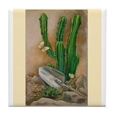 Cactus Garden Tile Coaster