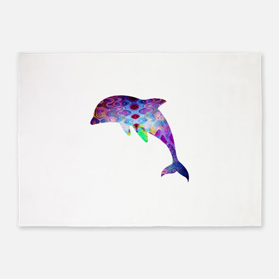 dolphin.png 5'x7'Area Rug
