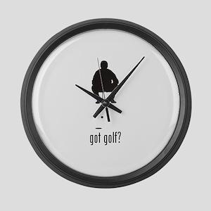 Golf 1 Large Wall Clock