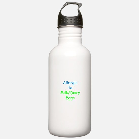 Allergic To Milk and Eggs Water Bottle