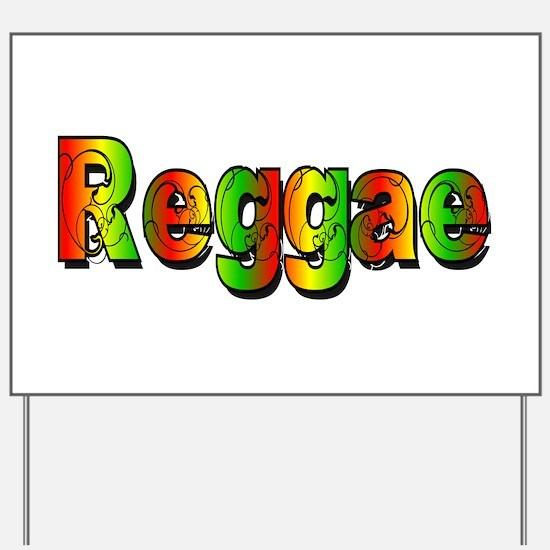Reggae Yard Sign