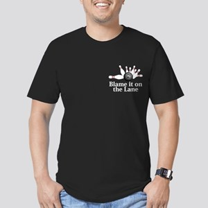 Blame It On The Lane Logo 2 Men's Fitted T-Shirt (
