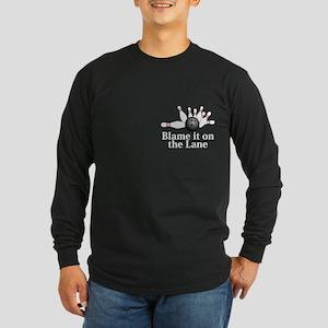 Blame It On The Lane Logo 2 Long Sleeve Dark T-Shi