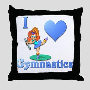 I Love Gymnastics #1 Throw Pillow