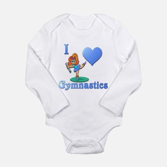 I Love Gymnastics #1 Long Sleeve Infant Bodysuit