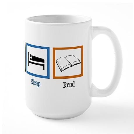Eat Sleep Read Large Mug