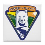 WoofDriver WooF Tile Coaster