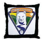 WoofDriver WooF Throw Pillow