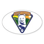 WoofDriver WooF Sticker (Oval 50 pk)