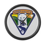 WoofDriver WooF Large Wall Clock