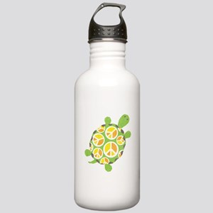 Peace Sign Turtle Stainless Water Bottle 1.0L