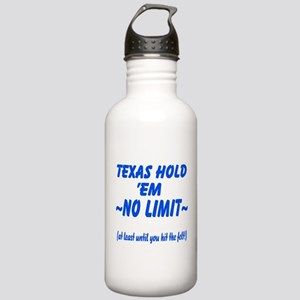 Funny No Limit Texas Hold Em Stainless Water Bottl