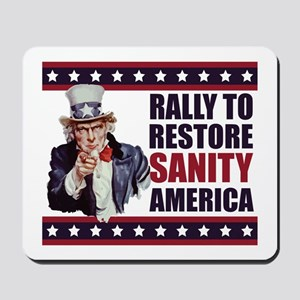 Rally to Restore Sanity America Mousepad