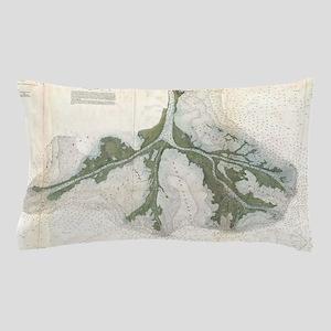 Vintage Map of The Mississippi River D Pillow Case