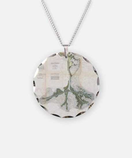 Vintage Map of The Mississip Necklace