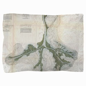 Vintage Map of The Mississippi River D Pillow Sham