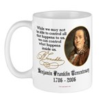 Ben Franklin on Control Mug