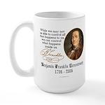 Ben Franklin on Control Large Mug