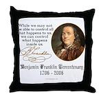 Ben Franklin on Control Throw Pillow