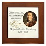 Ben Franklin on Control Framed Tile
