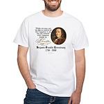 Ben Franklin on Control White T-Shirt