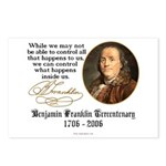 Ben Franklin on Control Postcards (Package of 8)