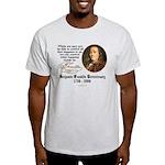 Ben Franklin on Control Ash Grey T-Shirt