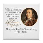 Ben Franklin on Control Tile Coaster