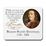 Ben Franklin on Control Mousepad