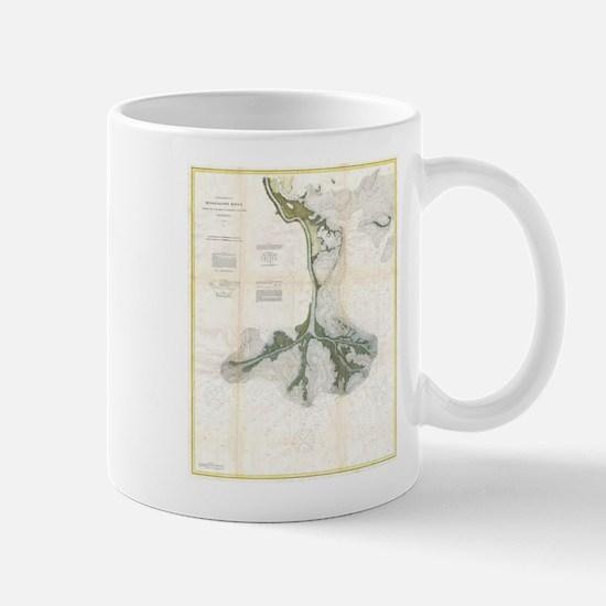 Vintage Map of The Mississippi River Delta (1 Mugs