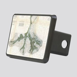 Vintage Map of The Mississ Rectangular Hitch Cover