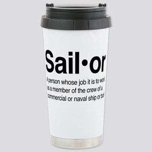 U.S. Navy Sailor 16 oz Stainless Steel Travel Mug